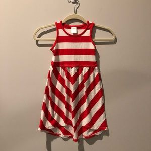 Red and White Striped Gymboree Dress